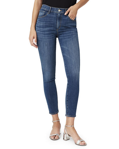 High-Rise Cropped Skinny-Leg Jeans