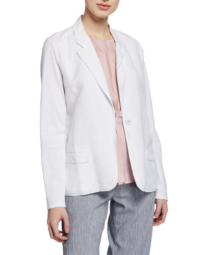 Petite Front Runner One-Button Blazer