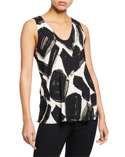 Petite Nightfall Abstract-Printed Tank