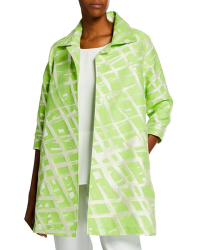 Plus Size Citrus Jacquard Party Jacket