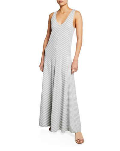 106b733c95940 Quick Look. Joan Vass · Petite Striped Sleeveless V-Neck Maxi Dress