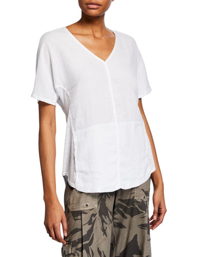 Haystack Split-Back Slub Shirt