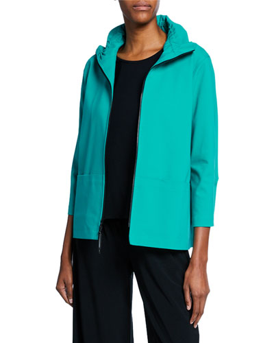 Petite Summer Stretch Zip-Front Jacket