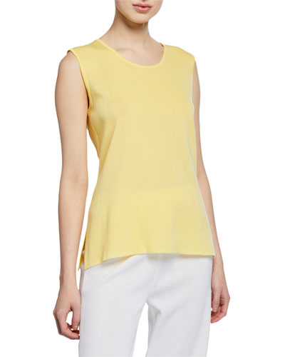 Petite Scoop-Neck Solid Knit Tank