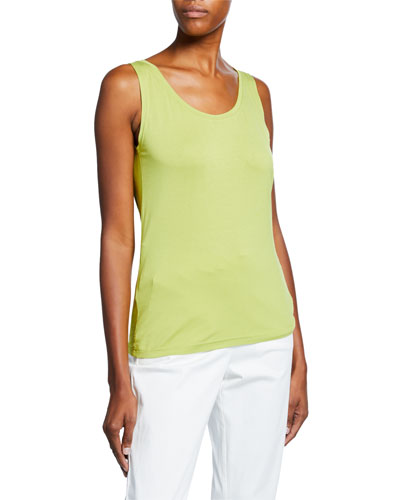 Elisa Scoop-Neck Basic Jersey Tank