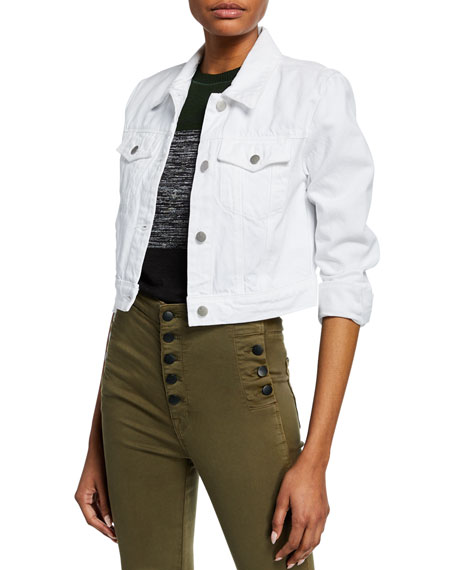 J Brand Faye Cropped Denim Jacket