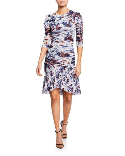 7503f4fc11efb Quick Look. Diane von Furstenberg · Lila Floral Ruched Flounce Dress