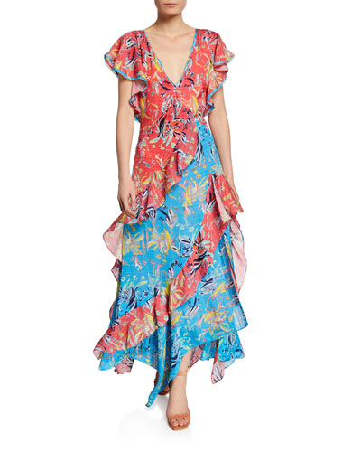 0dccb7800d8 Quick Look. Tanya Taylor · Iliana Ruffled Chiffon Floral Long Dress