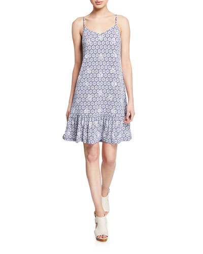 Elv Spaghetti-Strap Embellished Dress