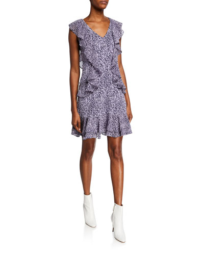 f316195cb9b7 Quick Look. MICHAEL Michael Kors · Mini Ikat Sleeveless Cascading Ruffle  Dress