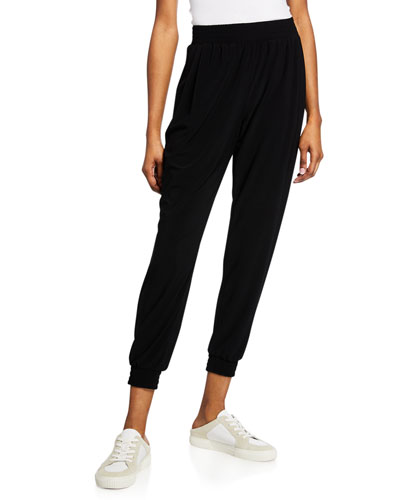 Daniella High-Rise Pull-On Jersey Jogger Pants