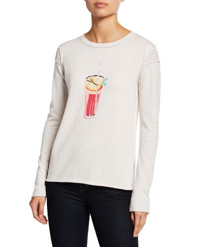 Plus Size Summer Sips Cotton Sweater