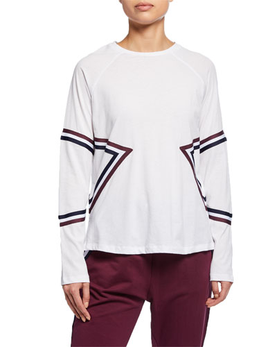 Beaumont Long-Sleeve Striped Active Top