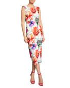 Chiara Boni La Petite Robe Madereh Floral-Print Sleeveless