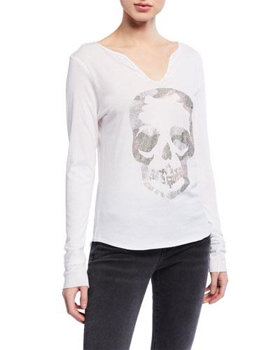Tunisien Embellished Skull Long-Sleeve T-Shirt