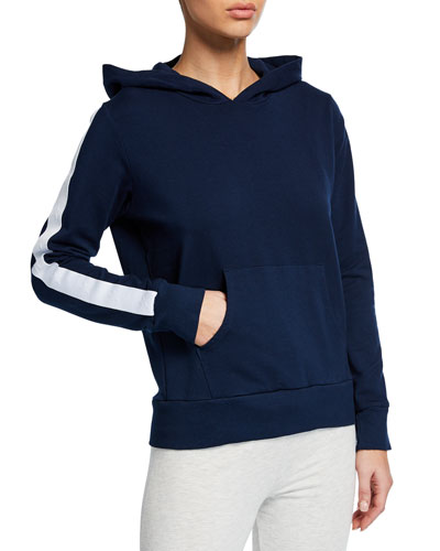 Pullover Hoodie with Star Elastic Stripe Detail