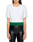 Koral Activewear Bora Brisa Twofer Cropped Drawstring T-Shirt