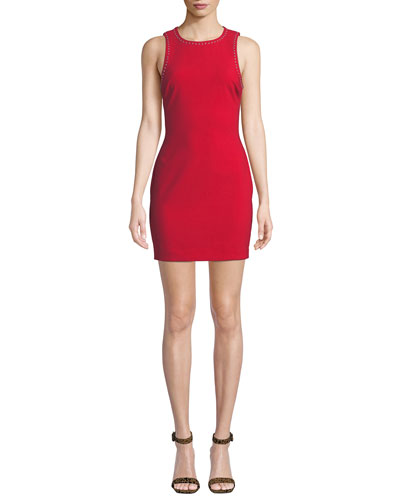 Manhattan Fitted Sleeveless Mini Dress