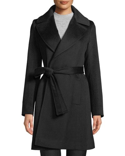 Cashmere Self-Tie Wrap Coat