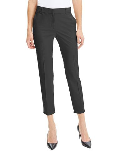 Treeca Skinny-Leg Cropped Good Wool Suiting Pants