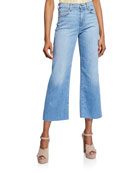 7 for all mankind Cropped Alexa Wide-Leg Jeans