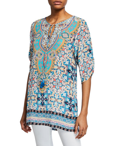 5386ba214a5 Printed Silk Tunic | Neiman Marcus