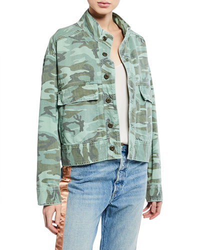 Army Patch Camo Jacket