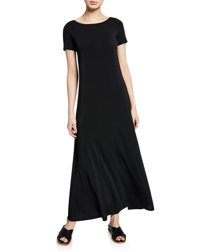e8c129822ac Quick Look. Theory · Boat-Neck Short-Sleeve Dress. Available in Black