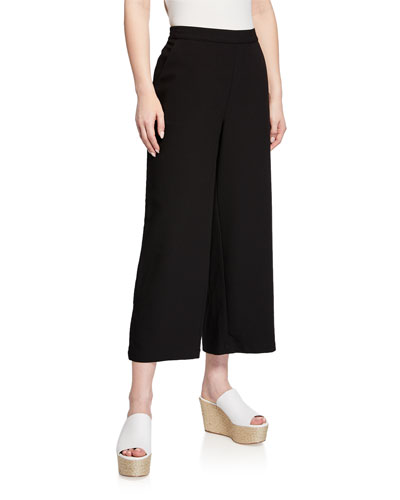 Perinius Straight Cropped Culotte Pants