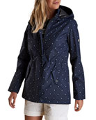 Barbour Ashby Spot-Print Waterproof Jacket