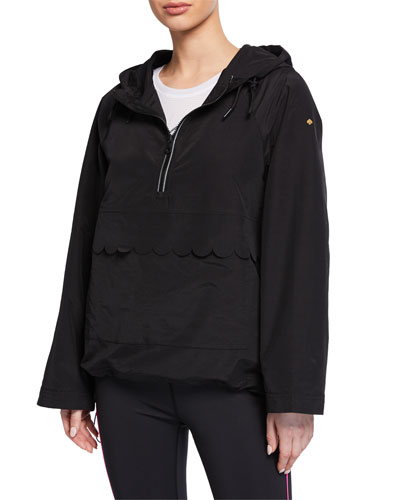 nylon scallop anorak jacket