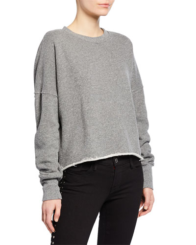 High-Low Side Zip Sweatshirt
