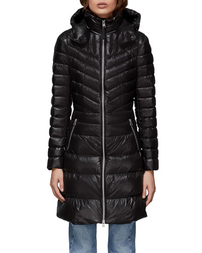 f369422134b3 Quick Look. Mackage · Lara Fitted Down-Fill Puffer Coat w  Detachable Hood.  Available in Black