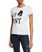 Alice + Olivia StaceFace I Love NY Short-Sleeve