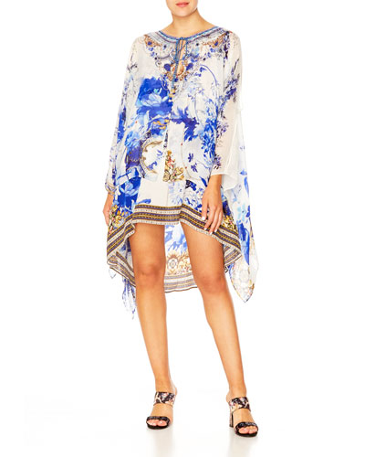 Sheer Layered Dress w/ Split