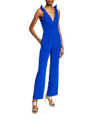 Dress The Population Maira V-Neck Sleeveless Jumpsuit with