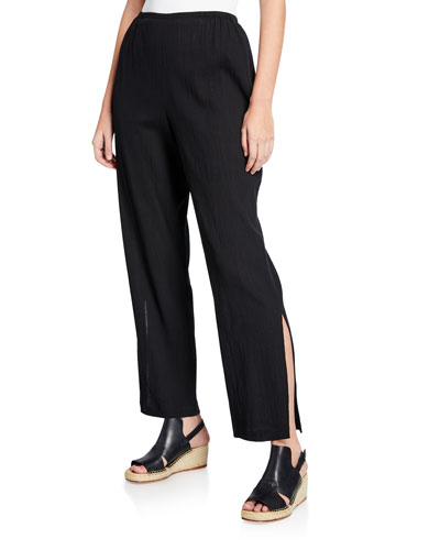 4b4bcbdb8d3 Quick Look. Caroline Rose · Crinkle Cotton Pants with Slits