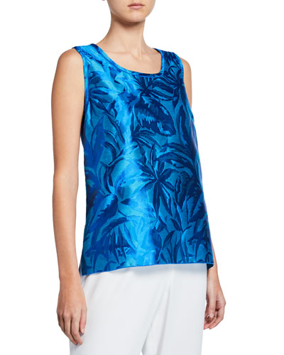 Blue Hawaii Jacquard Tank