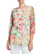 Caroline Rose Plus Size Sunshine State Mulitcolor Embroidered
