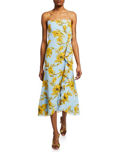 07d7c2555fc Floral Print Strapless Dress