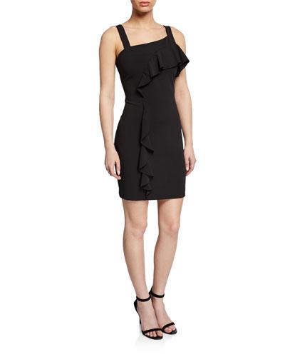 Lyla Sleeveless Ruffle Mini Crepe Dress