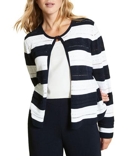 Mais Stripe Cotton Cardigan