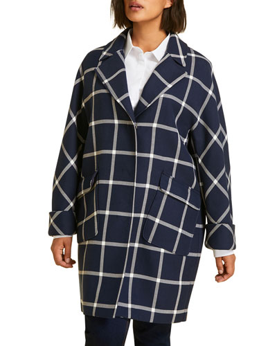 Plus Size Targa Windowpane Coat