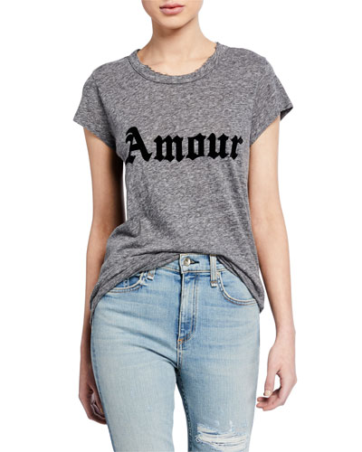 Amour Skinny Short-Sleeve T-Shirt