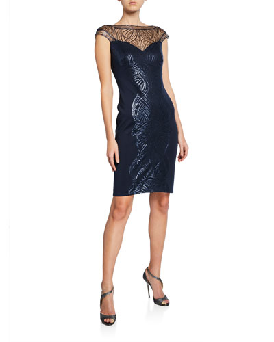 2bfb8040e2 Quick Look. Tadashi Shoji · Sequin Sweetheart Illusion Cap-Sleeve Cocktail  Dress