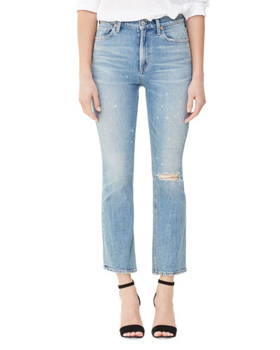 Demy Cropped Flare Jeans