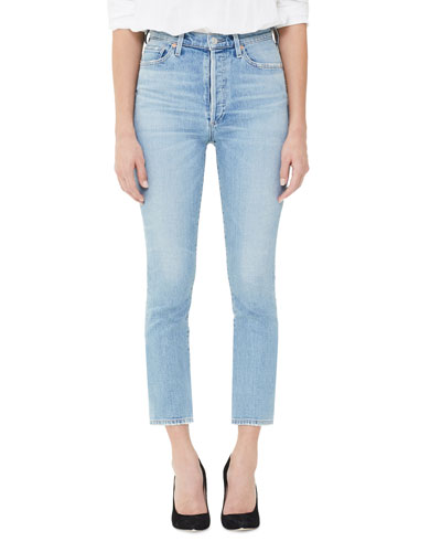 Olivia High-Rise Slim-Leg Crop Jeans