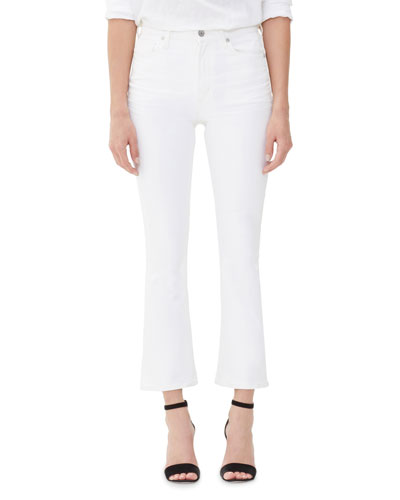Demy High-Rise Cropped Skinny-Leg Flare Jeans