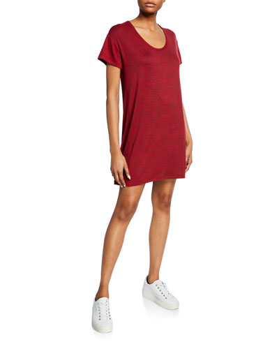 Clara Scoop-Neck Short-Sleeve Torqued Tee Dress