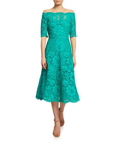 827a80fd3a1075 Lace Cotton Polyester Dress | Neiman Marcus